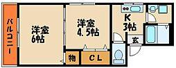 兵庫県明石市山下町の賃貸マンションの間取り