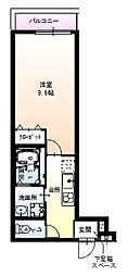 Osaka Metro御堂筋線 江坂駅 徒歩9分の賃貸アパート 1階1Kの間取り
