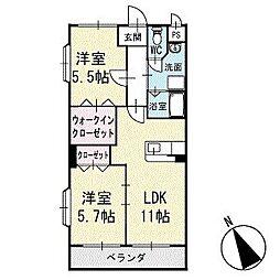 アビタシオンB 1階[104号室]の間取り