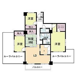 ピーク1[4階]の間取り