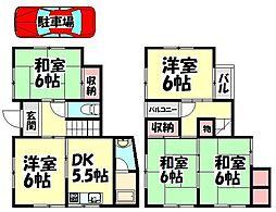 [一戸建] 大阪府岸和田市三田町 の賃貸【/】の間取り