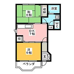 エンブレムシャトル[1階]の間取り