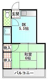 小野アパート[202号室]の間取り