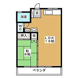 ヒルサイド上野山[2階]の間取り
