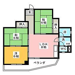 第2丸柴ビル[3階]の間取り