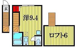 メゾンドソレイユ柴又[2階]の間取り