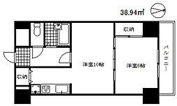 ライオンズマンション三宮第2[6階]の間取り