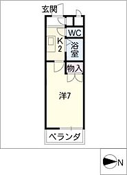KUWABARAビルIII[4階]の間取り