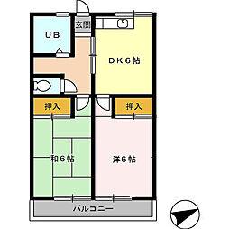 愛知県高浜市呉竹町6丁目の賃貸アパートの間取り