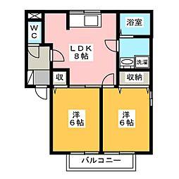 パミドールA[2階]の間取り