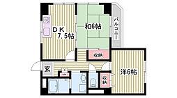 兵庫県明石市二見町東二見の賃貸マンションの間取り