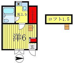 ジュネパレス松戸第59[1階]の間取り