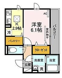 神奈川県横浜市鶴見区矢向4丁目の賃貸アパートの間取り