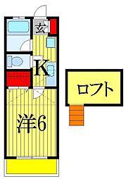千葉県船橋市三山1丁目の賃貸アパートの間取り