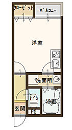 NEXT古川橋[3階]の間取り