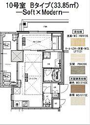 ノルデンタワー江坂プレミアム 17階1LDKの間取り