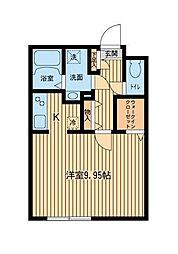 ZESTY幡ヶ谷[1階]の間取り