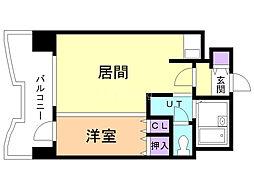 札幌ビオス館 9階1DKの間取り