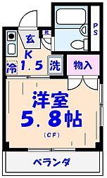 エクセル貴多川第2[511号室]の間取り