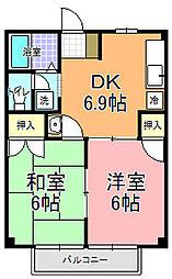 ファミール大関[2階]の間取り