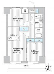 JR東海道本線 川崎駅 徒歩5分の賃貸マンション 4階1SLDKの間取り