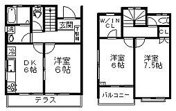 [テラスハウス] 東京都杉並区井草5丁目 の賃貸【東京都 / 杉並区】の間取り