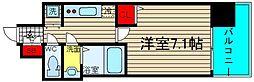 レオンコンフォート難波サウスゲート[4階]の間取り