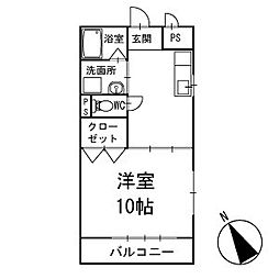 ハイムエクセル 2階[201号室]の間取り
