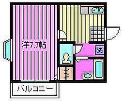ACROSS[205号室]の間取り