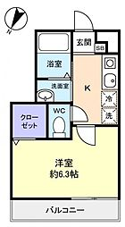 サマーセット[1階]の間取り
