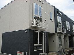 新潟県新潟市江南区北山の賃貸アパートの外観