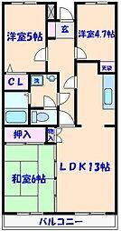 ルミナス藤[2階]の間取り