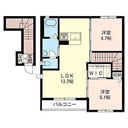 メゾン ポラリス II[2階]の間取り