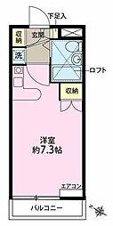 神奈川県横浜市中区大和町2丁目の賃貸アパートの間取り