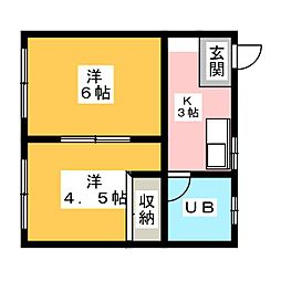 篠ノ風ハイツ[2階]の間取り