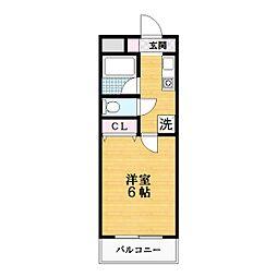 ベレッツァ灰塚[1階]の間取り