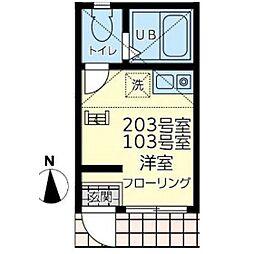 ユナイト渡田ジェイムス・フランク[2階]の間取り