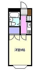 クレアール茅ヶ崎1[203号室]の間取り