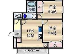 MIWA TERRACE別院[2階]の間取り