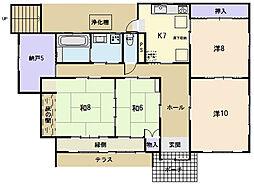 [一戸建] 三重県松阪市殿町 の賃貸【/】の間取り