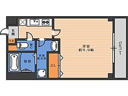 ジェンティーレ駒川 4階1Kの間取り