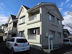 新潟県新潟市秋葉区さつき野1丁目の賃貸アパートの外観