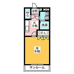 プチメゾン辰[2階]の間取り