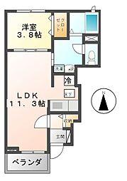 コネチカットA,B[1階]の間取り