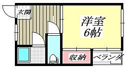 ドミール平野[C12号室号室]の間取り