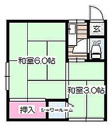 サンビルアパート[3階]の間取り