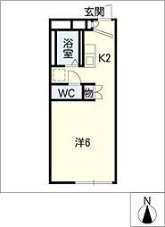 レオパレスCLUB K2[1階]の間取り