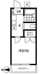 大木ハイム[2階]の間取り