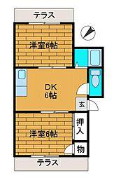 学園台第一コーポ[2階]の間取り
