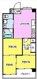 アルシオンエアポートタワー bt[1204kk号室]の間取り